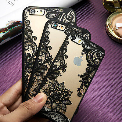 For New Apple iPhone Ultra-thin Clear Silicone Flower Case Cover and Protector