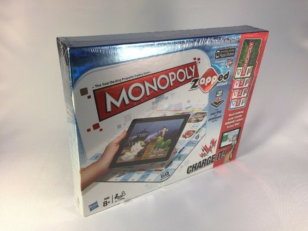 Monopoly Zapped Edition Board Game - Works With IPad IPhone IPod Touch
