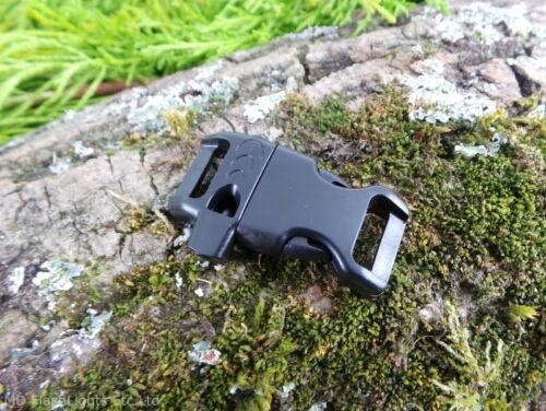 13MM 1.3cm Konturiert Gebogen Paracord Schnallen mit Pfeife Outdoor Survival Edc