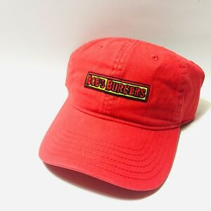 BOB-039-S-BURGERS-Red-Embroidered-Logo-Strapback-Baseball-Cap-Hat-IN-STOCK