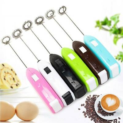 Coffee Latte Chocolate Milk Frother Whisk Frothy Blend Kitchen Mixer Whisker