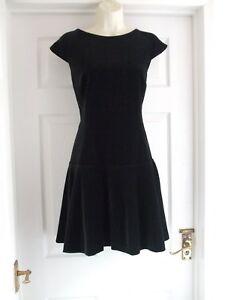 9ef9a51edf6e G Womens BNWT Size 12 Black Velvet Ted Baker Dress LADIES WORK ...