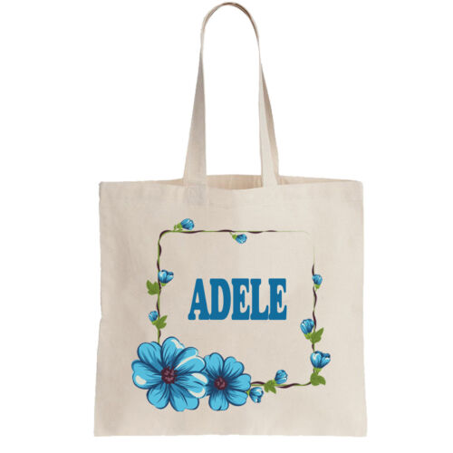 Adele Ladies Personalised Shopping Bag Tote can amend to  ANY NAME required
