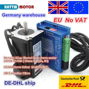 EU-Stock-CNC-Nema24-Closed-Loop-3N-m-Servo-Motor-amp-Hybrid-HSS60-Driver-CNC-kit