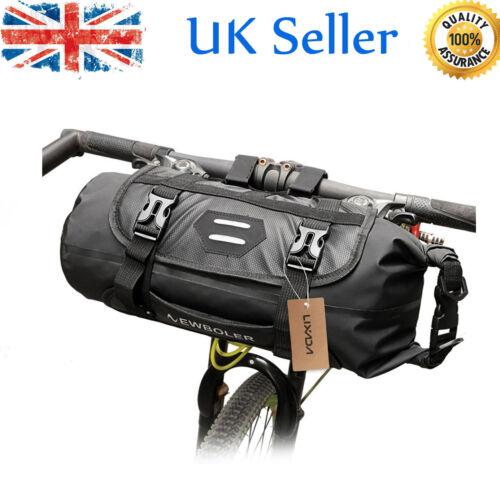 Bike Handlebar Bag Waterproof Adjustable Capacity Bicycle Front Tube Bag H4T8