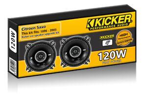 """Citroen Saxo Rear Hatch Speakers Kicker 4"""" 10cm car speaker kit 120W"""