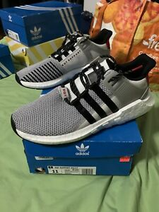 Details about Adidas EQT support 93/17 Grey/Black/Scarlet Red Men's US 11 CQ2397 DS