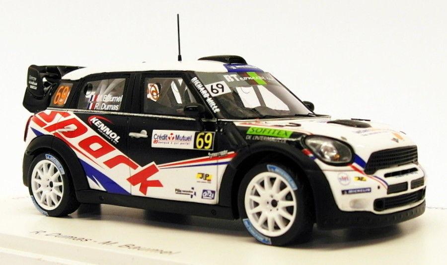 Spark 1 43 Scale SF040 - Mini John Cooper Works WRC  69 France 2012