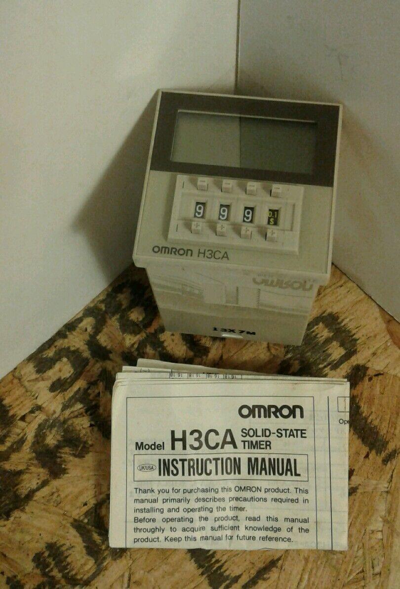 Omron Timer H3CA-8  8 Pin 200 220 240 VAC 12 VA Max 3A  - NEW IN BOX      4B