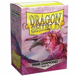 Matte Pink Diamond 100 ct Dragon Shield Sleeves Standard Size VOLUME DISCOUNT