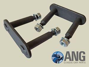 MG-Midget-Austin-Healey-Sprite-Arriere-Ressort-Manille-PINS-amp-ecrous-x-2-AHA7686