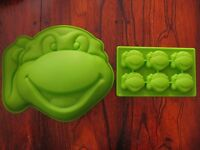 Teenage Mutant Ninja Turtles Silicone Mold Birthday Cake Pan Birthday Favor Set