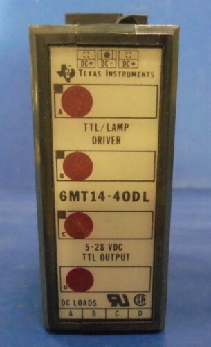 TEXAS INSTRUMENTS 5-28VDC OUTPUT TTL//LAMP DRIVER 6MT14-40DL *PZF*