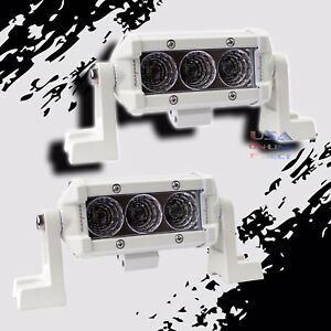 "2PCS SLIM 4""  CREE LED Light Bar Marine Wakeboard Boat Tower SPOT 4X4 Off-Road"
