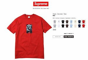 361250c66282 New Supreme Taxi Driver Tee RED Large Box Logo bogo 20th anniversary ...