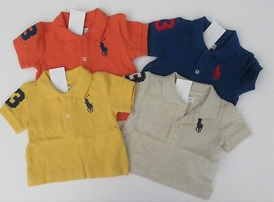 NWT Ralph Lauren Infant Boys S//S Big Pony Mesh Polo Shirt 3m 6m 9m 12m 18m 24m