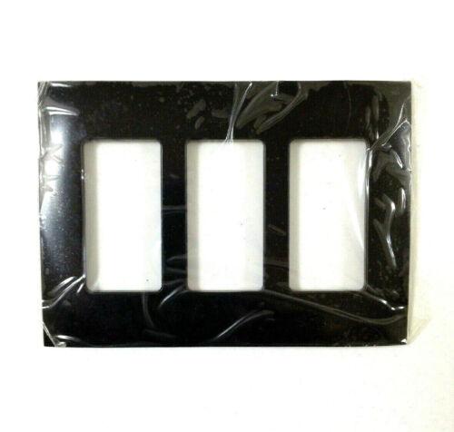 Midnight Black Gen3 Faceplate 3 Gang Control4 C4-FP3-MB