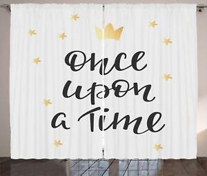 Once Upon A Time Curtains 2 Panel Set Decoration 5 Sizes Window