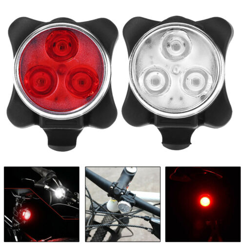 USB Rechargeable LED Bicycle Bike Front Rear Light Safety Cycling Taillight Lamp