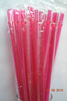 9 Reusable Replacement Straws Rose Pink Solid Plastic Acrylics Rings Bpa Free