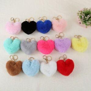 Faux-Hair-KeyChain-Pom-Poms-Ball-Bag-Car-Ornaments-Pendant-Key-Ring-Great-am8