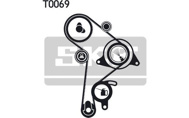 SKF Kit de distribución SEAT IBIZA TOLEDO VOLKSWAGEN GOLF AUDI 80 VKMA 01011