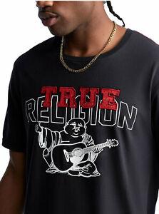 True-Religion-Herren-TR-Buddha-Logo-Tee-T-Shirt-in-schwarz