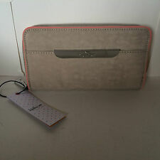 NEW ARRIVAL KIPLING PANDORA SAND CASTLE PINK COMBO ZIP AROUND CONTINENTAL WALLET