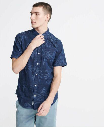 Superdry Indigo Miami Loom shirt à manches courtes-M4010006A-T5Q