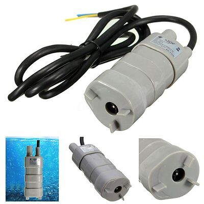 Micro 3 core DC 12V Submersible Immersible Motor Under Water Bath Pump 840L/H 5M
