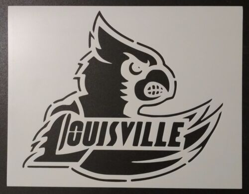 """Louisville Cardinals Cards Basketball 11/"""" x 8.5/"""" Stencil FAST FREE SHIPPING"""