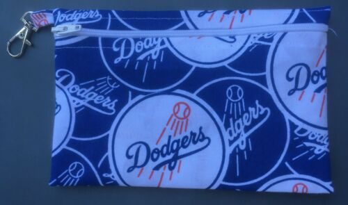 small handmade zippered bag by studioyj Los Angeles Dodgers