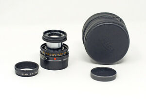 Leica-Elmar-M-50mm-F2-8-Black-Finish-11831-W-Hood-Caps-Box-TESTED