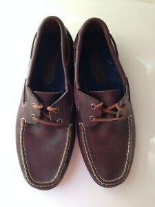 polo sport ralph lauren brown leather casual boat shoes