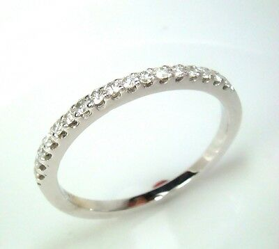Diamond Wedding Ring Band Classic 14k White Gold Engagement Anniversary Ring
