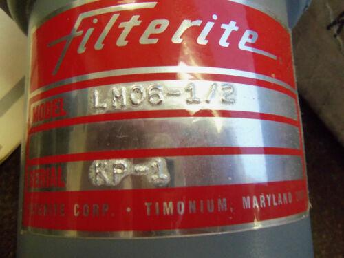 "NEW FILTERITE LMO6-1//2  Filter Housing 1//2/"" NPT LMO61//2    LMO6 1//2"