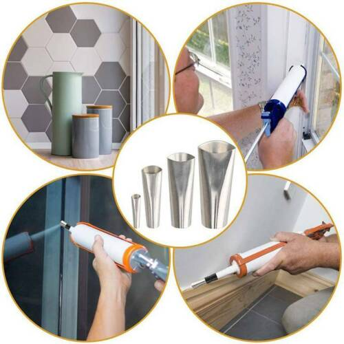 Caulking Kits Nozzle Reusable Finishing Tool Stainless Steel Sealant Applicator