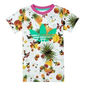 Detalles acerca de Adidas Originals chica trefoil Flower fruits niños T Shirt Weiss Pink mostrar título original