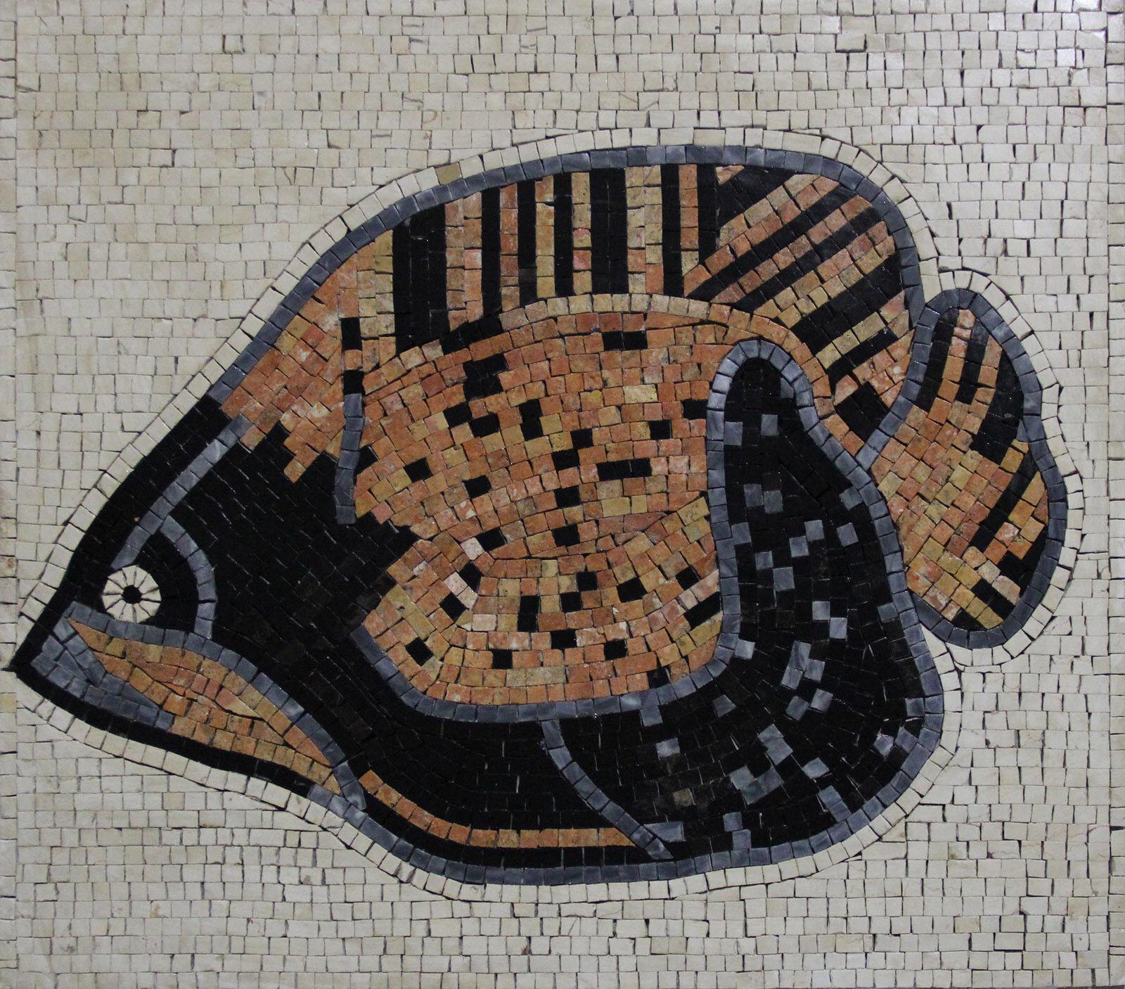 Exotic Fish Orange Marble Mosaic AN1170
