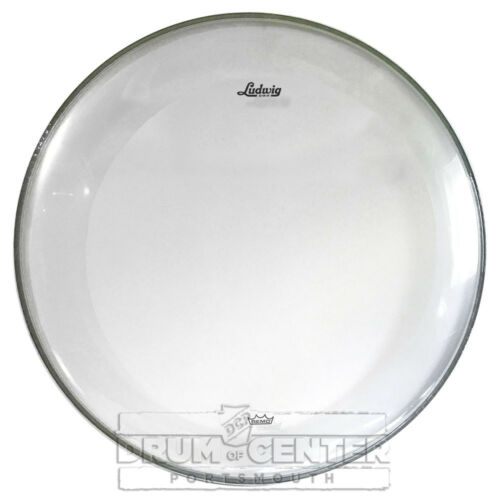 "LW1322P3CLR Ludwig Bass Drum Heads 22/"" Powerstroke 3 Clear"