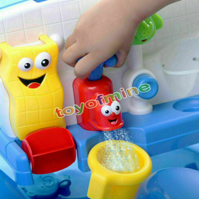 Bath Toys Water Taps Buttressed Spout Spray Shower Water Play For Kid Baby