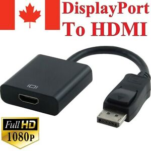 Displayport-Male-to-HDMI-Female-Video-Cable-Cord-Converter-Adapter-1080P-For-TV