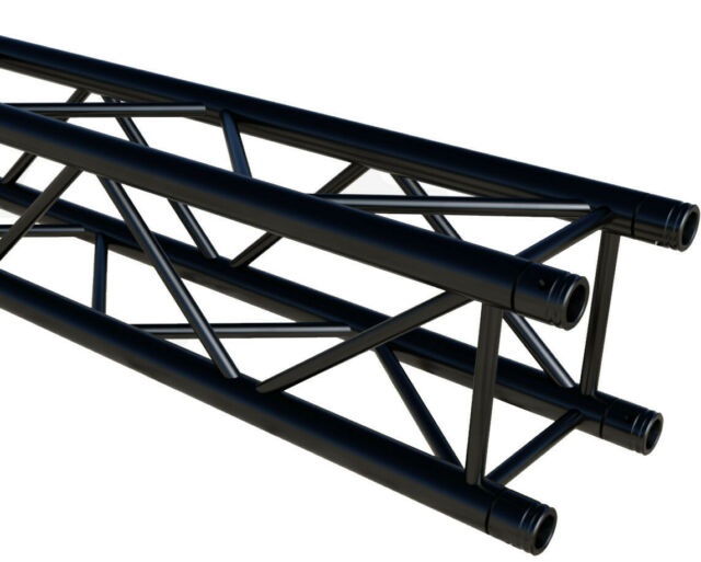 BLACK 3m 290mm aluminium lighting box truss ALU40130B-BL TUV RATED