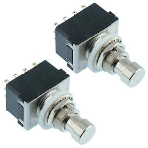2-x-Latching-On-On-Foot-Switch-4PDT-Guitar-Effects-Pedal-Stomp-Box