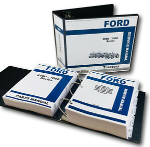 FORD-2000-3000-4000-5000-7000-SERIES-TRACTOR-SERVICE-PARTS-REPAIR-MANUAL-SHOP-OH