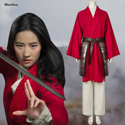 Movie Mulan 2020 Costume Hua Mulan Cosplay Women Fancy Dress Outfit Halloween Ebay