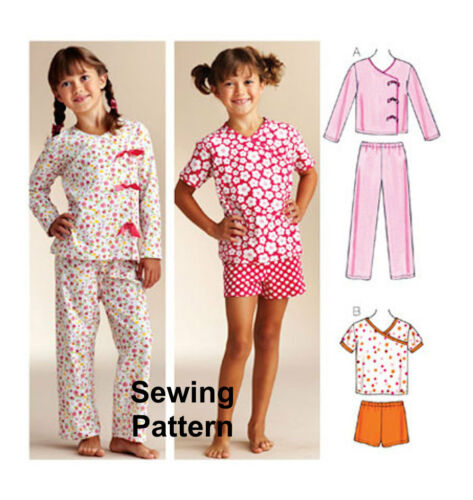 Kwik Sew k3831 patrón Niñas sleepy-time Pijama Xs-xl millones de EUR