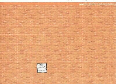 Dollhouse 1:24  Modern Brick Wall Material Sheet 24977 World Model Miniatures