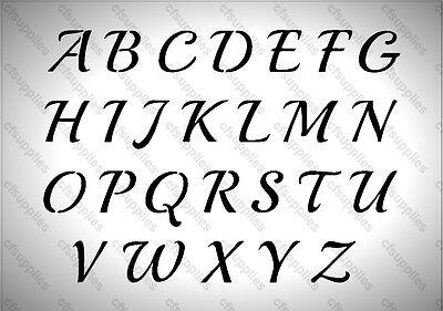 A4/A3 Stencil Shabby Chic, Vintage French Font, Alphabet  Mylar 125 micron (146)