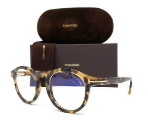 Tom-Ford-FT5529-B-055-Blonde-Havana-Blue-Block-50mm-Eyeglasses-TF5529B